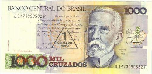 Brazil P 216 1 Cruzado Novo