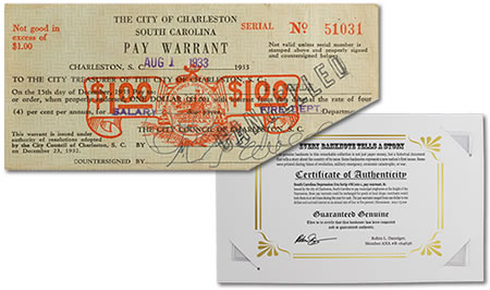 Great Depression Pay Warrant