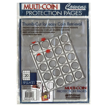 Double Thumb-Cut Coin Pages