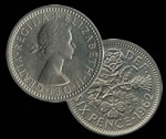 Great Britain 6 Pence Coins