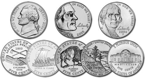 Nickel Rolls 2004 Louisiana Purchase Peace Medal