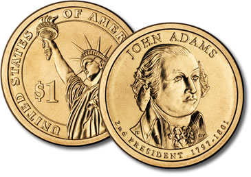 2007-P John Adams Presidential Dollar Coin