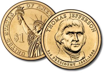 Thomas Jefferson dollar coin