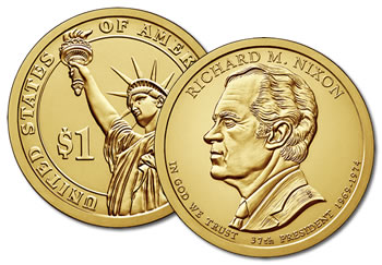 2016-D Richard Nixon Presidential Dollar Coin