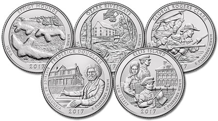 2017 National Park Quarter Set - P and D