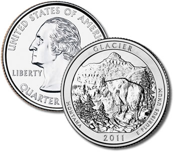 2011-P Glacier National Park Quarter - Uncirculated
