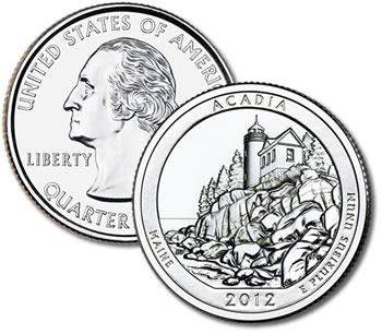 2012-P Acadia National Park Quarter - Uncirculated