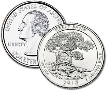 2013-P Great Basin National Park Quarter - Uncirculated