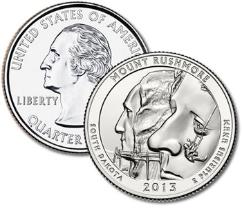 2013-P Mount Rushmore Quarter - Uncirculated