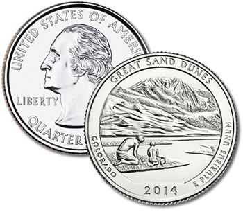 2014-D Great Sand Dunes National Park and Preserve Quarter - Uncirculated