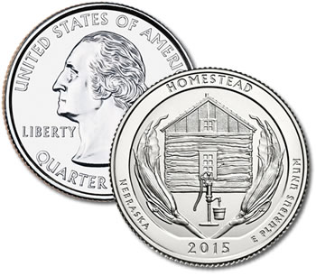 2015-P Homestead National Monument of America Quarter - Uncirculated