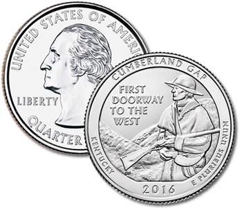 2016-P Cumberland Gap National Historical Park Quarter - Uncirculated