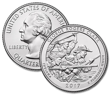 2017-D George Rogers Clark Park Quarter - Uncirculated