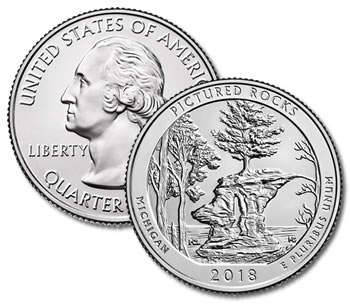 2018-P Pictured Rocks National Park Quarter - Uncirculated