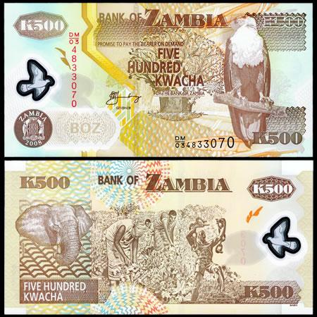 2003-06 Zambia P43 500 Kwacha Banknote - World Banknotes