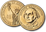 2007-D George Washington Presidential Dollar Coin