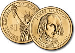 2007-D James Madison Presidential Dollar Coin