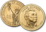 2008-D James Monroe Presidential Dollar Coin