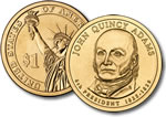 2008-D John Quincy Adams Presidential Dollar Coin