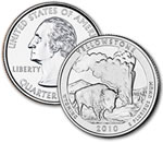 2010-D Yellowstone National Park Quarter - Uncirculated