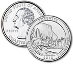 2010-D Yosemite National Park Quarter - Uncirculated