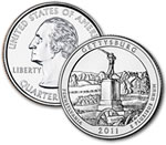 2011-D Gettysburg National Military Park Quarter - Uncirculated