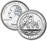 2011-D Vicksburg National Military Park Quarter - Uncirculated