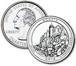 2012-D Acadia National Park Quarter - Uncirculated