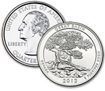 2013-D Great Basin National Park Quarter - Uncirculated