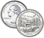 2014-D Great Smoky Mountains National Park Quarter - Uncirculated