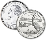 2015-P Bombay Hook National Wildlife Refuge Quarter - Uncirculated