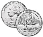 2018-P Voyageurs National Park Quarter - Uncirculated