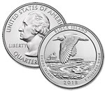 2018-P Block Island National Park Quarter - Uncirculated