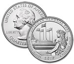 2019-P American Memorial Park Quarter - Uncirculated