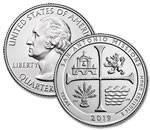 2019-D U.S. San Antonio Missions National Historical Park Quarter - Uncirculated