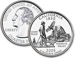 2005-D California Statehood Quarter